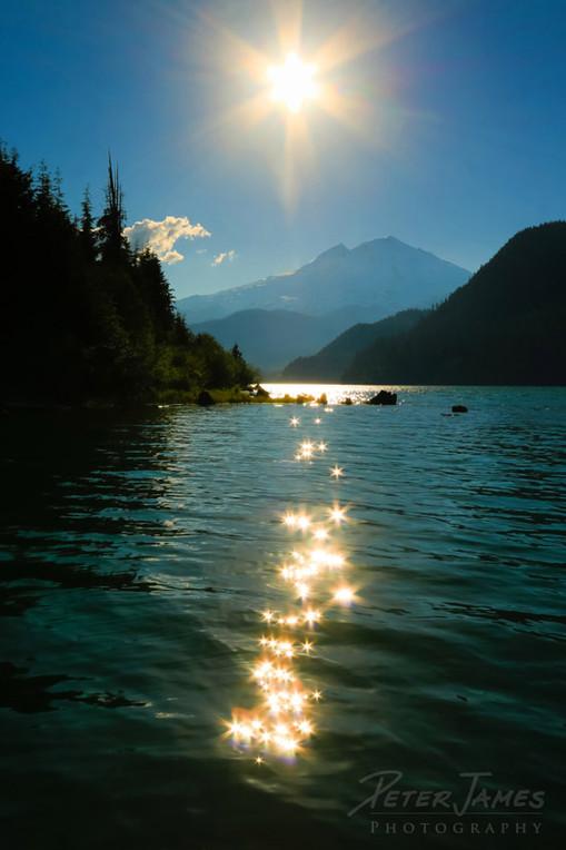 Sparkling Sun on Baker Lake
