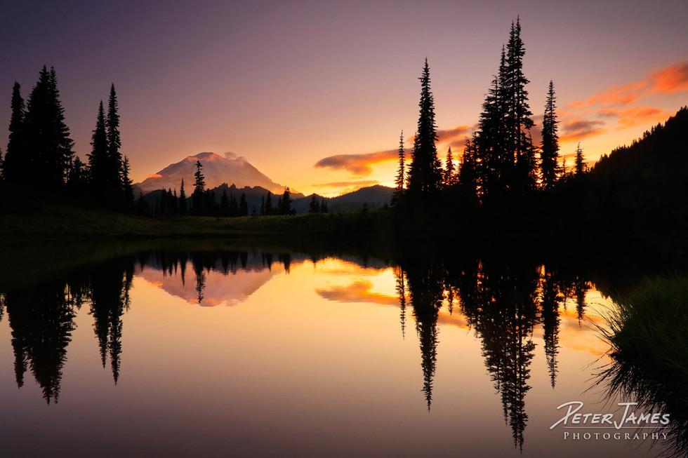 Little Tipsoo Lake Mount Rainier Sunset