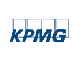 Logo of KPMG, a global network of independent member firms offering audit, tax and advisory services.