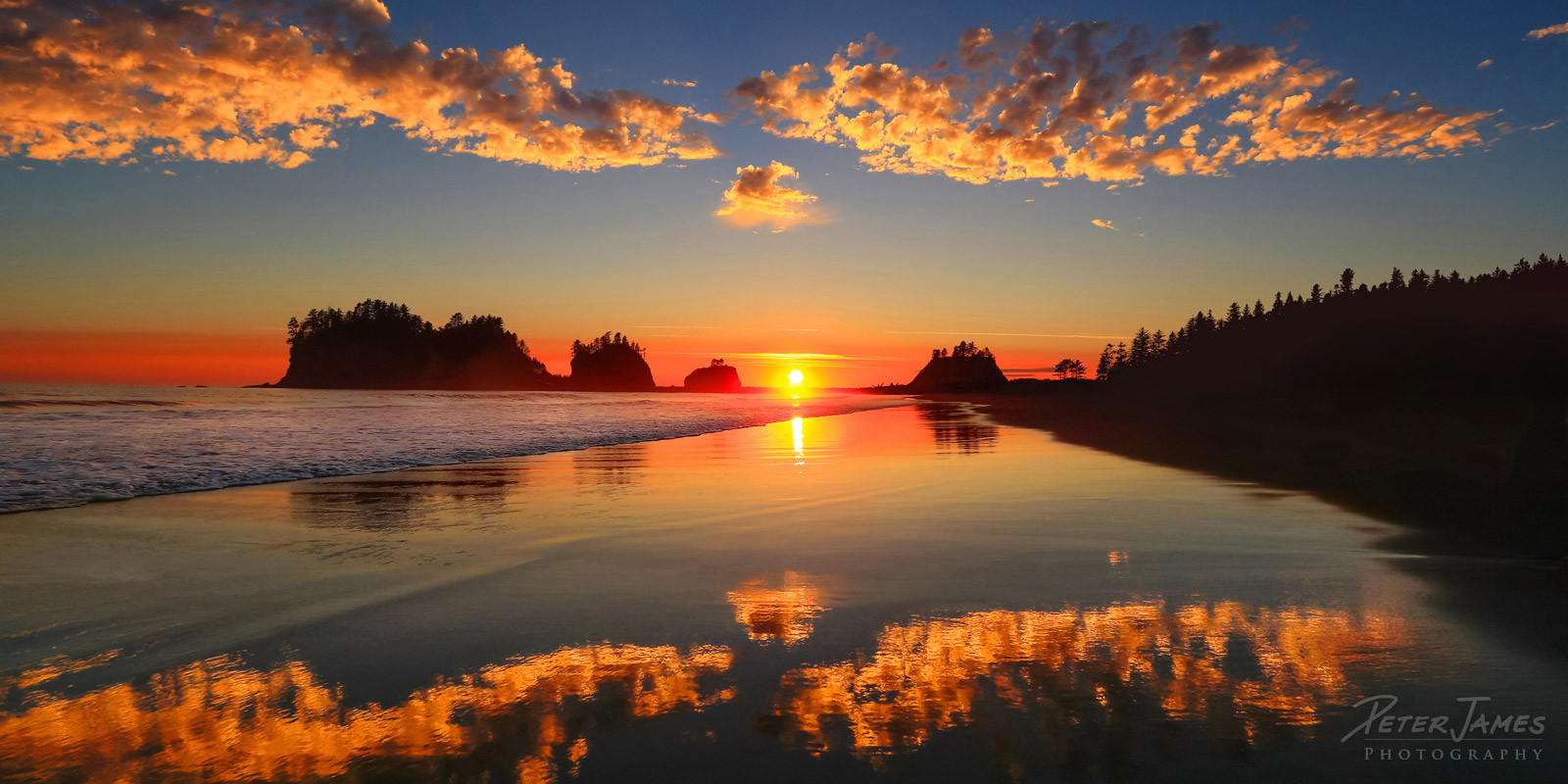 Golden Reflections On First Beach