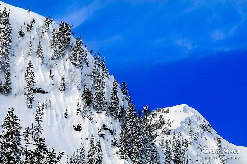 Steep Sculpted Snow Cliffs
