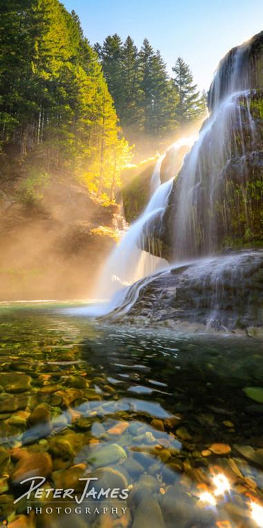 Luminous South Cascades Waterfall