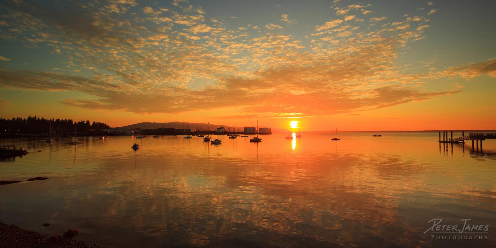Sunset on Fairhaven Cove
