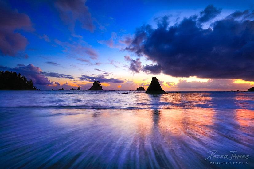 Olympic Coast Soothing Sunset