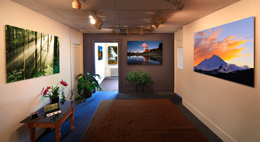 Peter James' original fine art photography gallery in downtown Bellingham Washington.