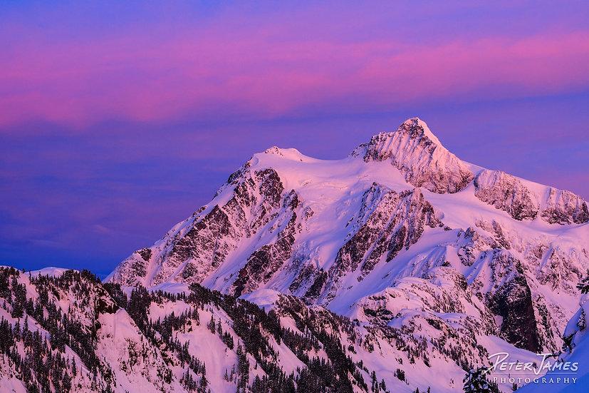 Mount Shuksan Snowy Alpenglow