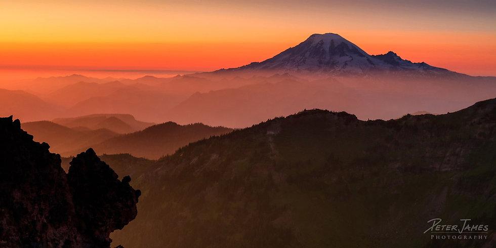 Mount Rainier Photography Metal Prints for Sale