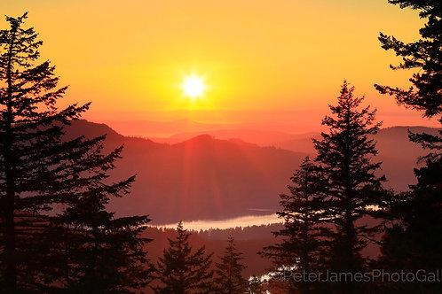 Orcas Island Tangerine Sunset