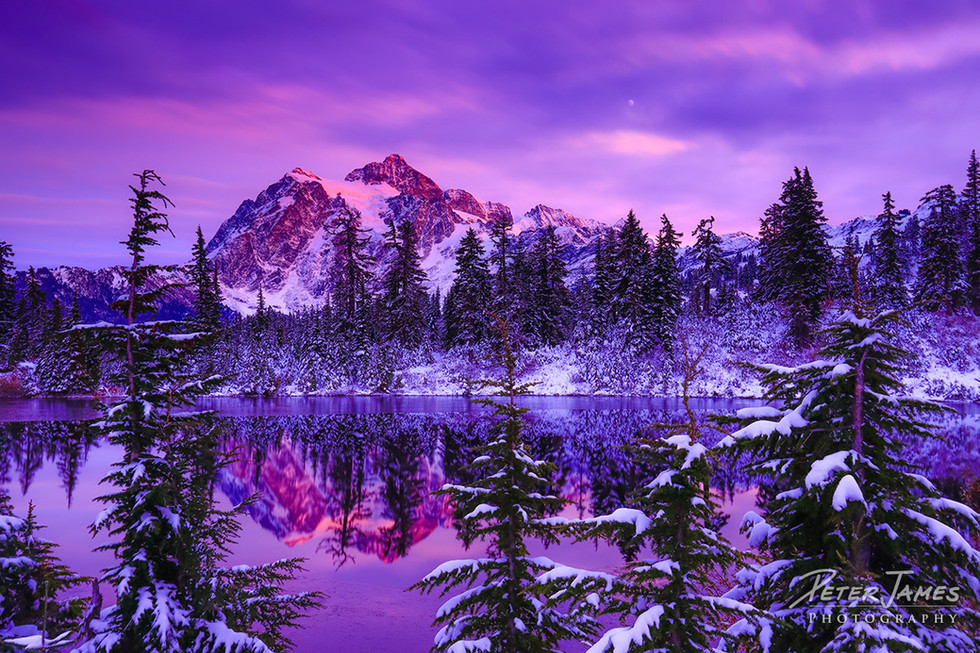 Deep Purple Dusk at Mount Shuksan