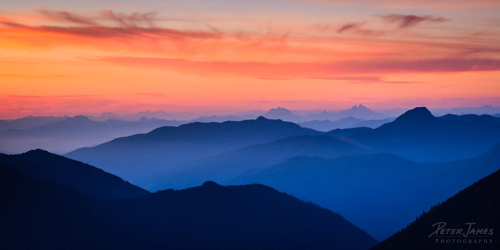 Dusk Over The North Cascades