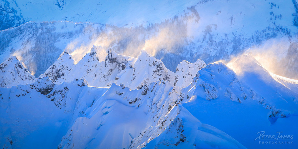Snow Swept Shuksan From Above
