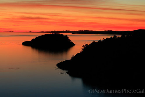 Crimson Sky Over Deception Pass