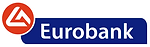 Logo of Eurbank, a bank providing retail, corporate and private banking, asset management, treasury, capital markets, and other services in Greece.