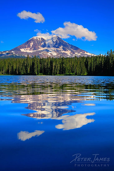 Summer Reflections Of Mount Adams