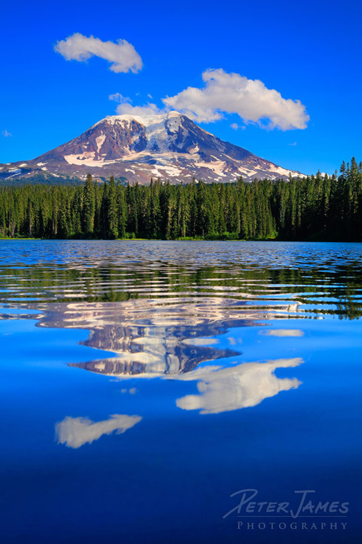 Summer Reflections Of Mount Adams