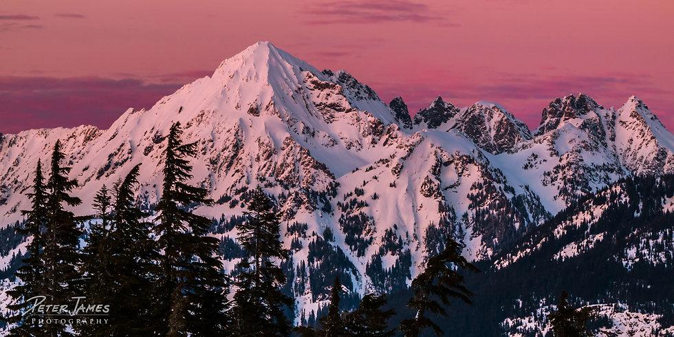$110 - Alpenglow on Mount Larrabee