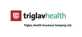 This is the logo of Triglav, Zdravstvena zavarovalnica, an insurance company specialised in the product development of all health insurance classes.