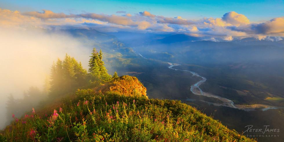 Skagit River In The Mist