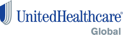This is the logo of UnitedHealthcare Global, a company creating and managin international plans at the local market level in 130 countries for globally mobile populations and health systems of individual nations with one mission: to help people lead healthier lives.