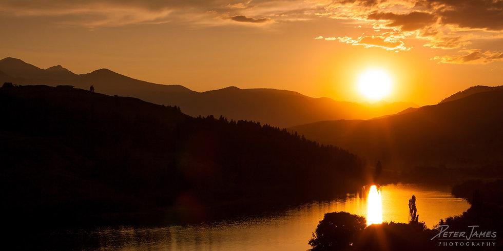 Sunset Above Pearrygin Lake