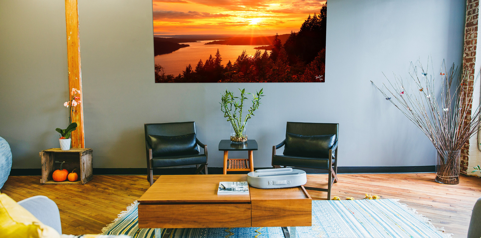Warm and colorful fine art for living rooms