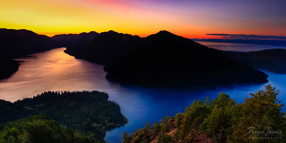 Lake Crescent October Sunset