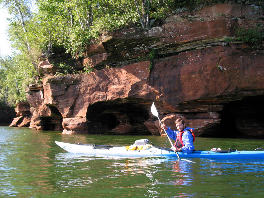 always looking for adventure, Peter James loves to take photographs even from his kayak.