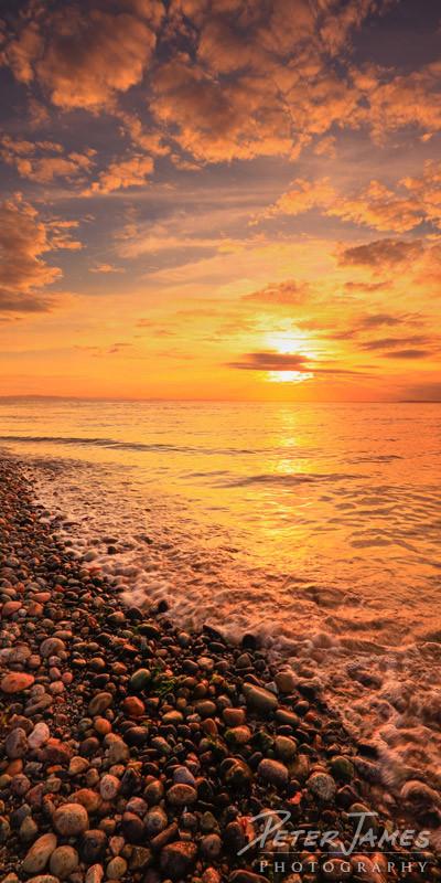 Golden Sunset On Birch Bay