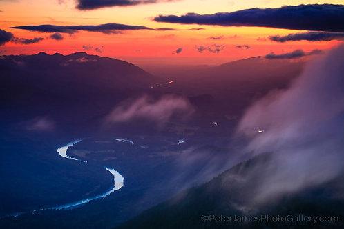 Dusk Over The Skagit River