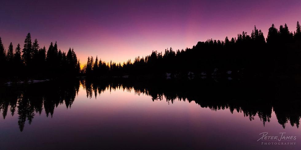 Twilight Reflections on Skyline Lake