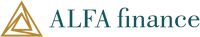 This is the logo of ALFA finance, an innovative and fast-growing player in online lending and investment management.
