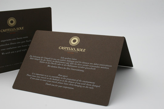 Welcome cards