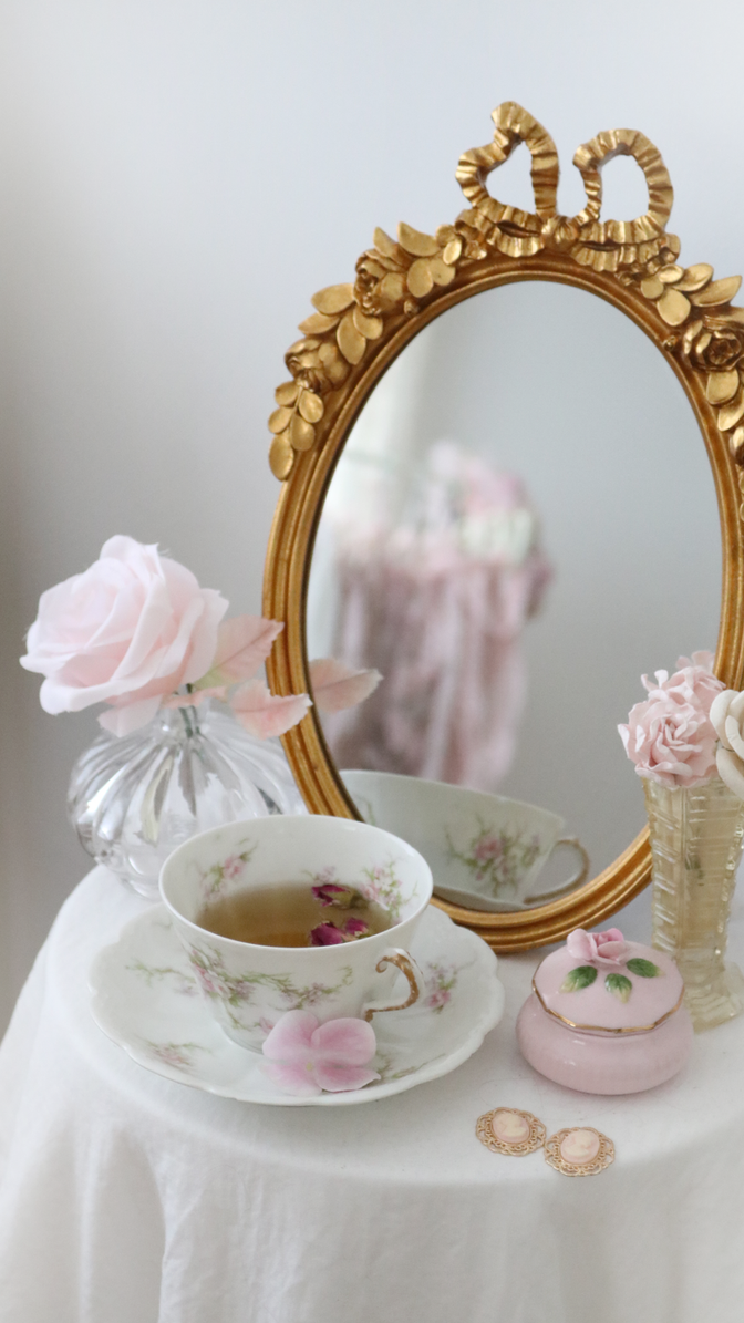 ROSE TEA ELEGANT MORNING ROUTINE..