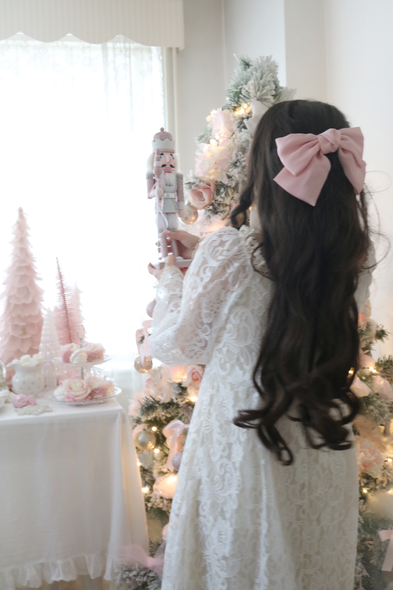 PINK BOW AND PRETTY NIGHTGOWN FOR CHRISTMAS..