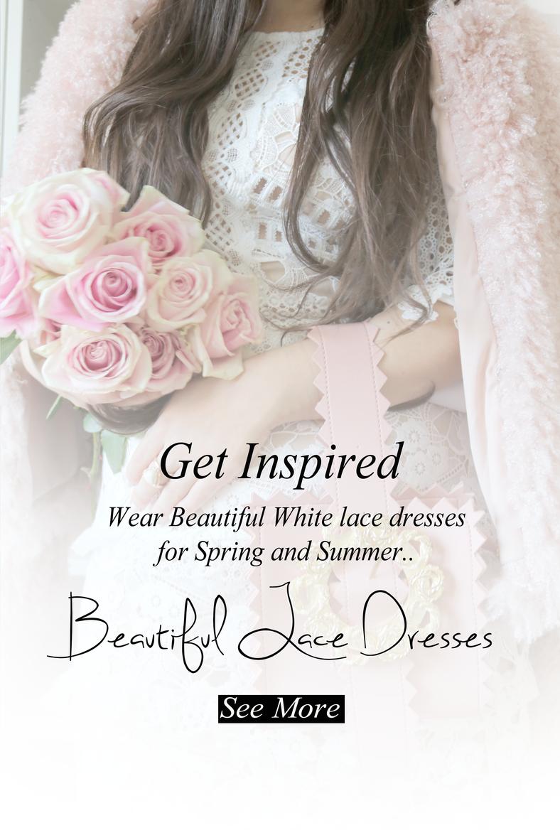 Wear Beautiful White Lace Dresses..