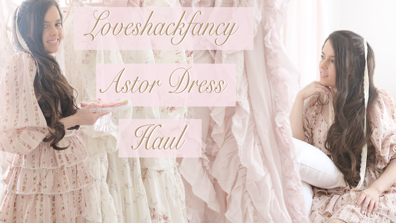 LOVESHACKFANCY ASTOR DRESS HAUL..