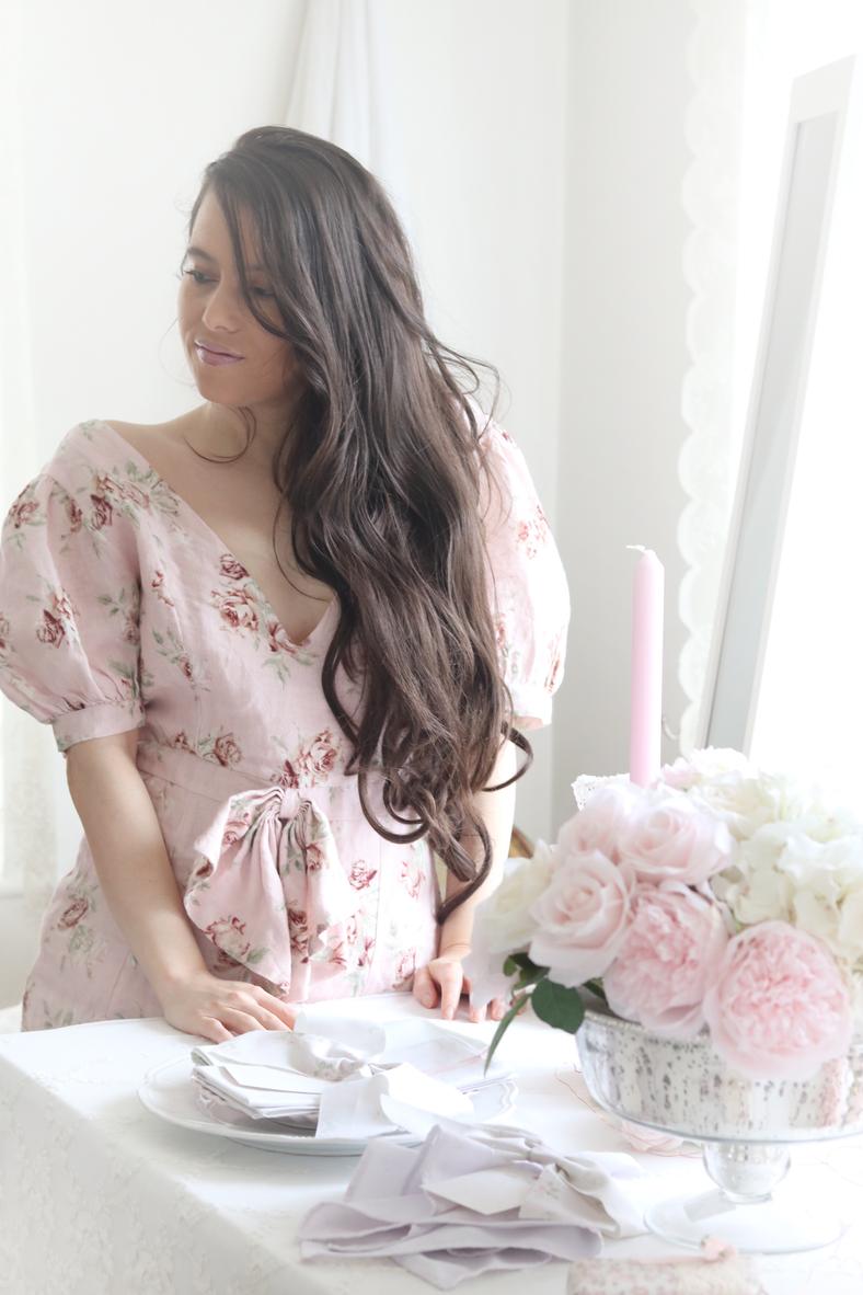 PRETTY PINK ROSE DRESS