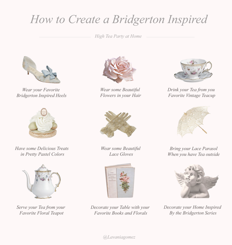 HOW TO CREATE A BRIDGERTON INSPIRED HIGH TEA PARTY AT HOME..