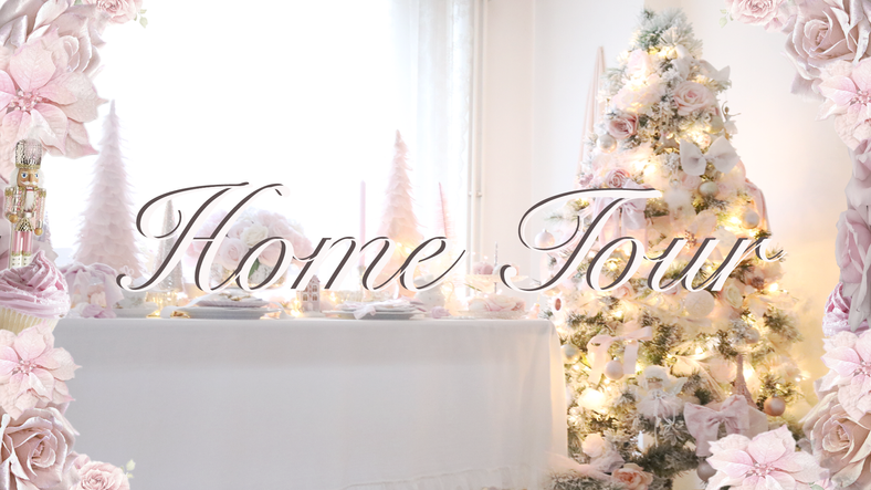 CHRISTMAS PINK WONDERLAND HOME TOUR SHABBY CHIC PRINCESS INSPIRED..