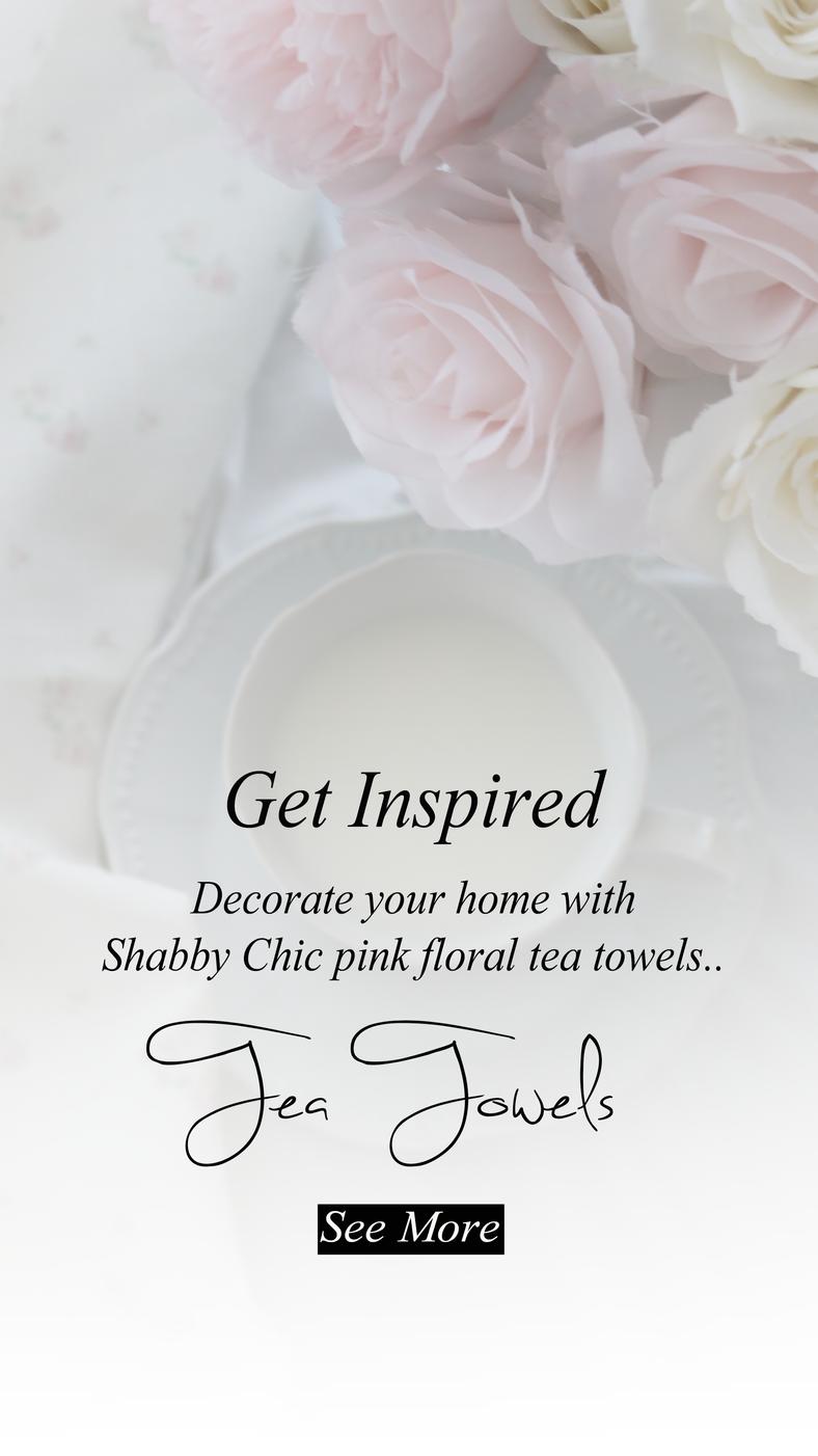 Pink Floral Tea Towels..