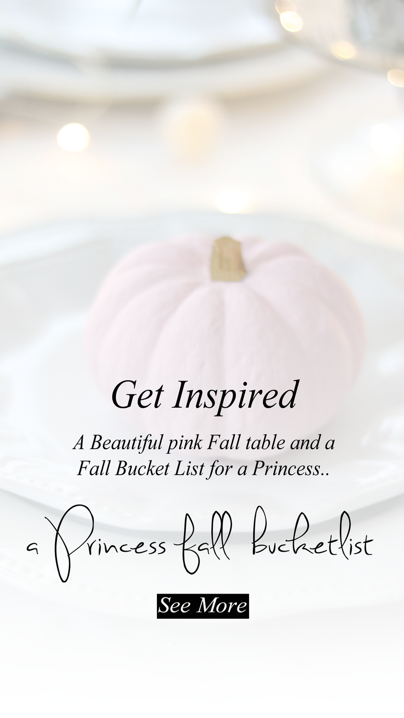 5 things I love to do for Fall and my Princess Fall Bucketlist..