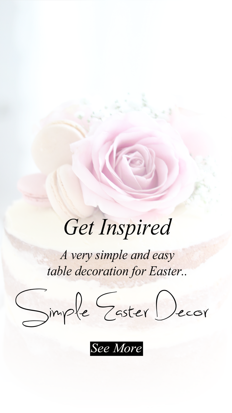 A Beautiful Simple Easter Decor..
