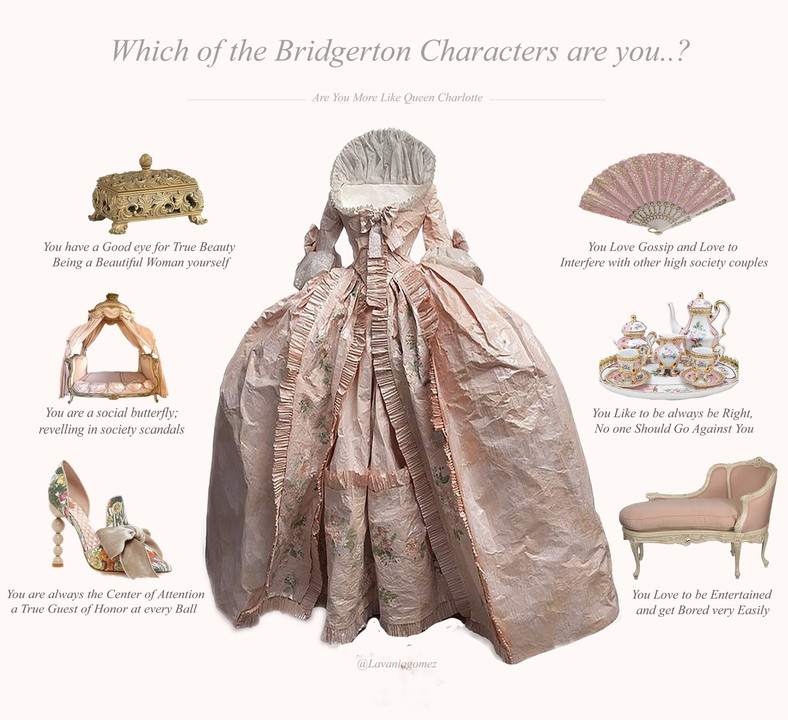 WHICH OF THE BRIDGERTON CHARACTERS ARE YOU..?