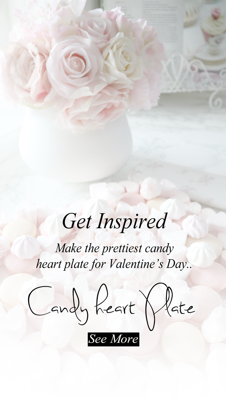 Make the prettiest Candy Heart Plate for Valentine's Day..