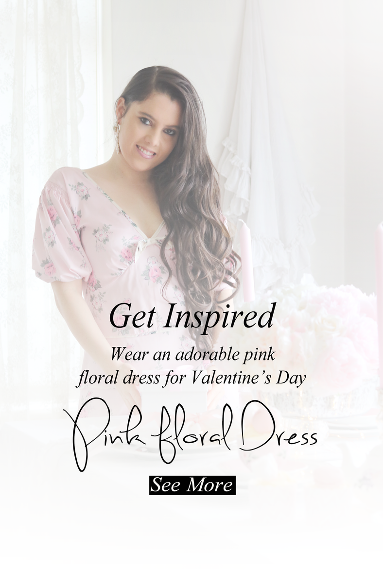 Wear a Pink Floral Dress for Valentine's Day..