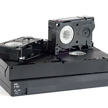 Video Cassette isolated on a white backg