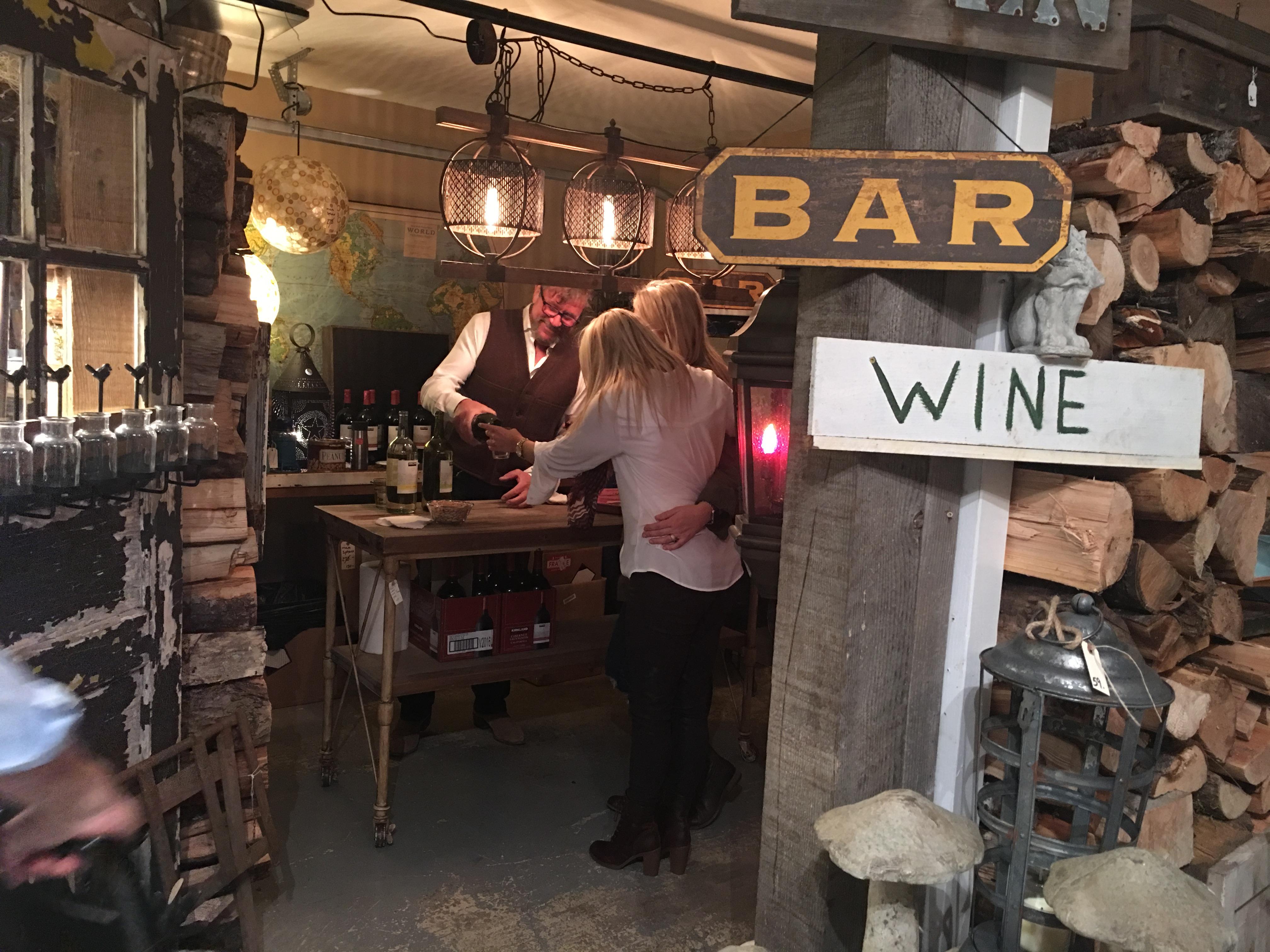 Home Sale wine bar.