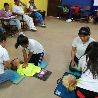 CLASE DE SALVAMENTO EN CASO DE EMERGENCIA – CETES COCLÉ
