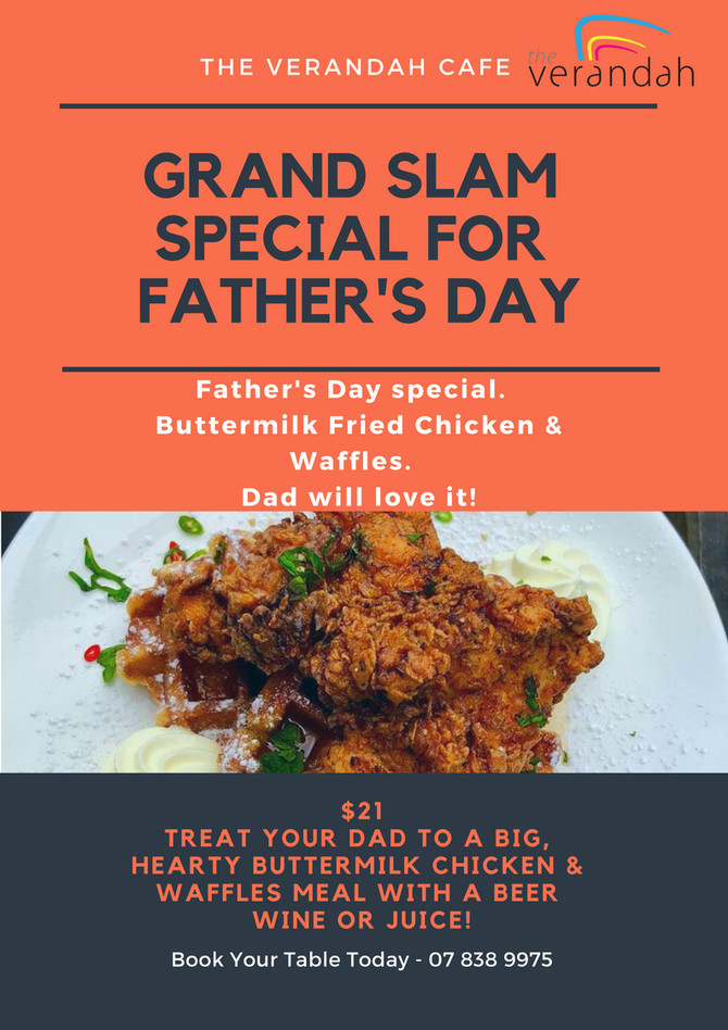 Grand Slam Special For Father's Day! Buttermilk Fried Chicken & Waffles!