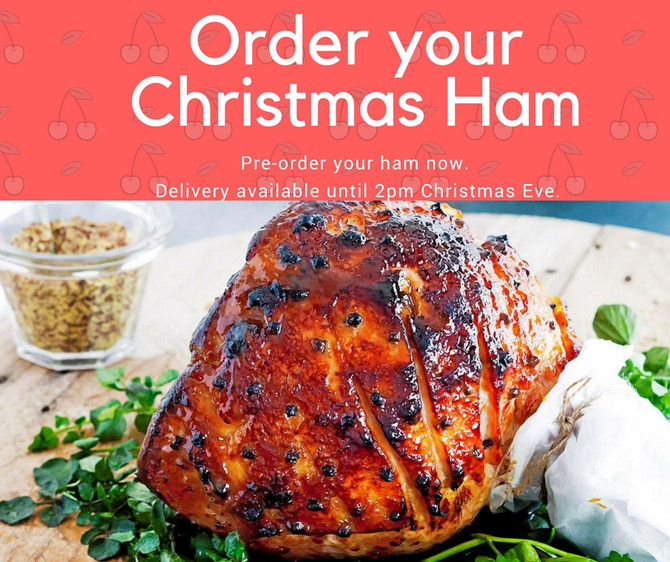 Order your glazed Christmas ham today